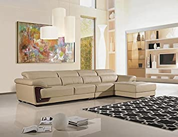 3pc Modern Contemporary Adjustable Sectional Leather Sofa Set - AM-L390-KA