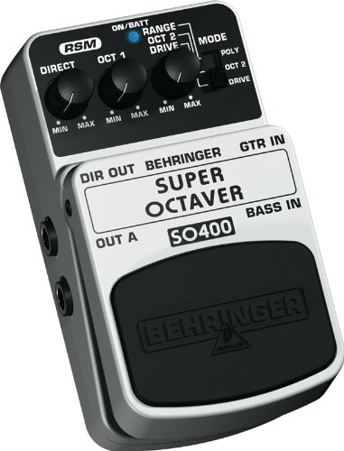 Behringer SO400 Super Octaver Ultimate Octaver Effects Pedal