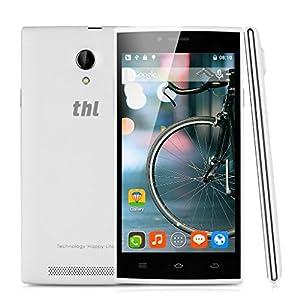 THL T6C Smartphone Unlocked 3G (5.0 inch HD Screen - 8GB - Android 5.1 Lollipop - Dual SIM - Camera 8,0MP) - White