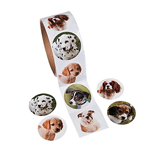 Fun Express Adorable Puppy Dog Stickers (100 Pieces)