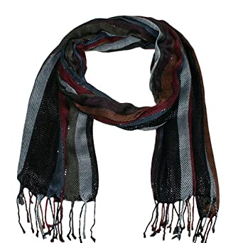 striped scarfwrappashminahead scarf Amazoncouk Clothing Head Scarves Fashion Uk