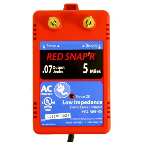 Red Snap'R Eac5M-Rs 5-Mile Ac Low Impedance Fence Charger