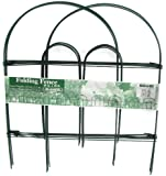 Glamos 778009 Folding Metal Wire Garden Fence, 18-Inch by 10-Foot, Pack of 12 , Green