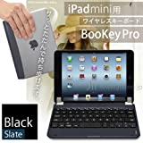 iPad mini&iPad mini Retina 対応 ワイヤレス Bluetooth キーボード「BooKey Pro ブラック/スレート」iPad ミニシリーズをノートパソコン感覚で使える一体型 無線キーボード【JTTオンライン限定商品】