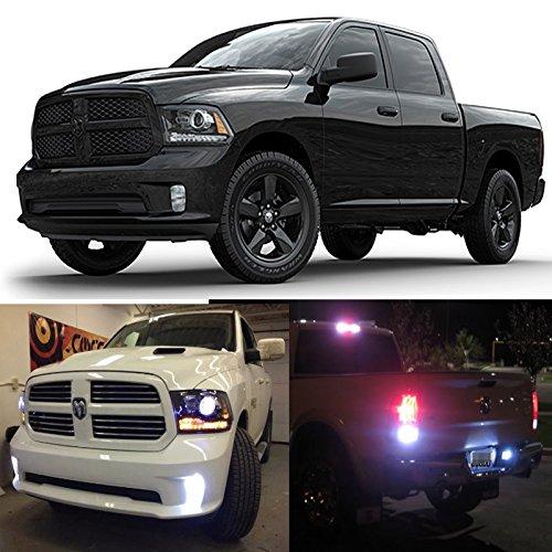 2013 - 2016 Dodge RAM 1500, 2500, 3500 HD Heavy Duty White LED Exterior Light Kit (Fog, Reverse/Backup, Cargo, License plate Light Bulbs) (Dodge Ram Cargo Light compare prices)
