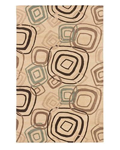 Handmade Lattice Rug, Khaki, 5' x 8'