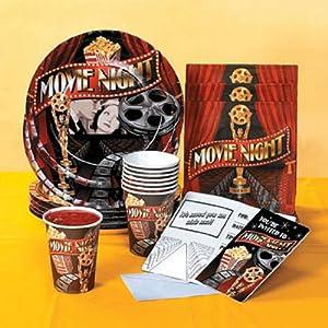 Movie Night Tableware Set & Invitations (40 pc)