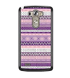 PrintDhaba Tribal pattern D-2064 Back Case Cover for LG G3 (Multi-Coloured)