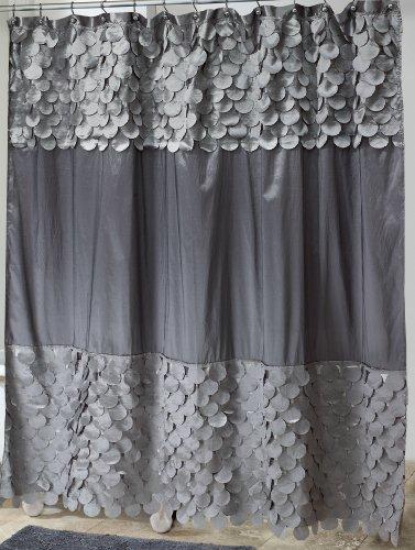 Avanti Flutter Dots Granite Shower Curtain