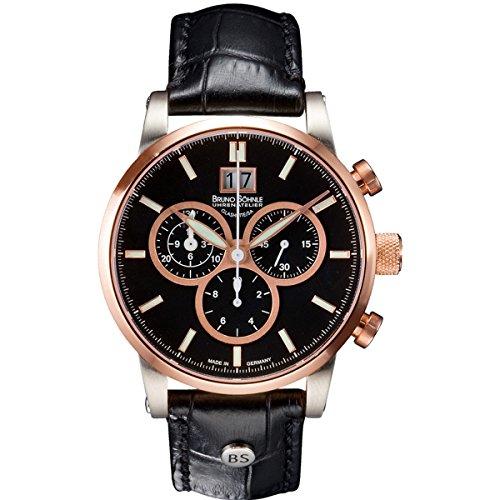 Bruno Söhnle Men's Quartz Watch with Idas Chronograph Quartz Leather 17-53084-741