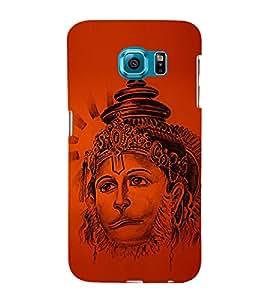 Lord Narasimha Hanuman 3D Hard Polycarbonate Designer Back Case Cover for Samsung Galaxy S6 Edge+ G928 :: Samsung Galaxy S6 Edge Plus G928F