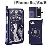 Disney Old Book Frozen Elsa and Anna iPhone 5/5S/5C Case Navy from Japan