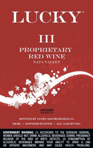 Nv Bravium Winery Lucky Proprietary Red Wine Napa Valley Iii, 750Ml