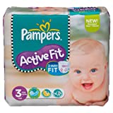 Active Fit nappies (size 3 midi 4-9 kg) - 1 Economy pack containing 204 nappies