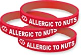 51SiIgGVSFL. SL160 Pack of 3 Allergic to Nuts Silicone Medical Alert Bracelets Reviews