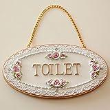 プリンセスプレート TOILET トイレ ドアプレート