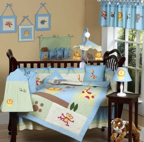 JoJo Designs 9-Piece Baby Crib Bedding Set - Jungle Safari