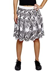 Jalebe Women's Pleated Skirt INDTJBL002_White_S