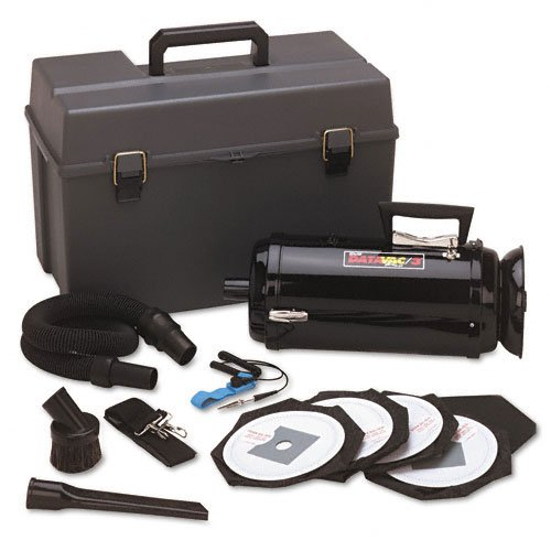 DataVac Products - DataVac - ESD-Safe Pro 3 Professional Cleaning System w/Case, Black - Sold As 1 Each - Quadruple filtration includes a HEPA filter--99.97% effective in capturing particles of dust as small as 0.3 microns. - Equipped with a powerful 2-speed 1.7 HP motor. - Grounding wrist strap eliminates static - Environmental sanitizing vacuum virtually eliminates Electro Static Discharge (ESD), which can harm computer/electronic components or hardware. - Carry case holds vacuum and atta