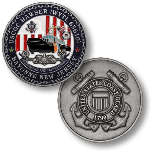 Coast Guard Cutter Hawser Challenge Coin