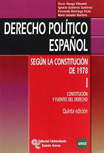 DERECHO POLITICO ESPAÑOL SEGUN LA CONSTITUCION DE 1978 I