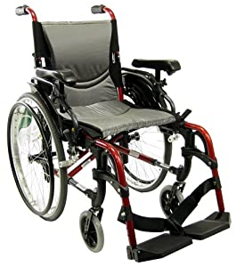 Karman 29 pounds S-305 Ergonomic Ultra Lightweight Wheelchair Rose Red