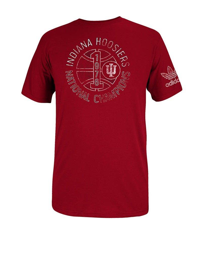 Indiana hoosiers basketball adidas brushed men 39 s t shirt for Indiana basketball t shirt