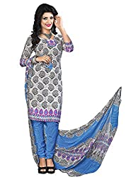 Fashion Queen Presents Grey Colored Unstitched Dress Material