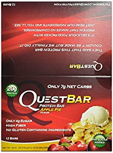 Quest Nutrition Protein Bars, Apple Pie, Pack of 12