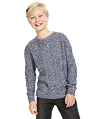 Pure Cotton Cable Knit Jumper