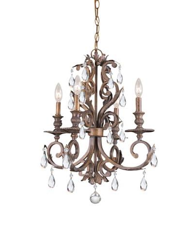 Gold Coast Lighting Wrought Iron Mini-Chandelier, Florentine Bronze