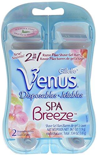 Gillette Venus Spa Breeze Disposable Women's Razor 2 Count