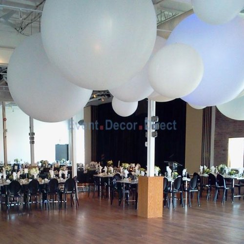 Giant 4Ft Latex Balloon For Wedding/Event Decor - No Helium Required - White Color