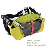 Black Crystal Ridge Run Waterproof Nylon 5 Liter No Bounce Fanny Pack Waist Bag Green Brand New