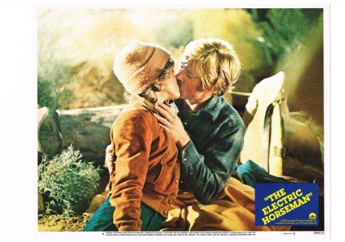 The Electric Horseman Jane Fonda Kissing Robert Redford 11X14 Lobby Card Mint