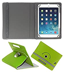 ECellStreet 360° Degree Rotating 7 Inch Flip Cover Diary Folio Case With Stand For Lenovo CG Slate Grade 3-5  - Green
