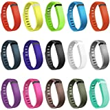 Henoda 15PCS Replacement Bands With Metal Clasps For Fitbit Flex Wireless Activity Sleep Wristband Set Of 15 With...