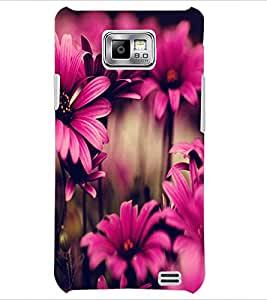 PrintDhaba Flower D-2035 Back Case Cover for SAMSUNG GALAXY S2 (Multi-Coloured)