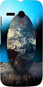 Snoogg Circled Beach On The Deck 2603 Case Cover For Motorola G