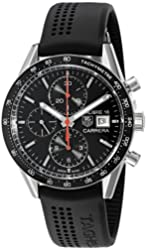 TAG Heuer Men's CV201AK.FT6040 Analog Display Swiss Automatic Black Watch