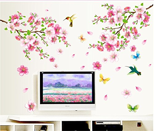 bibitime-pink-2-branches-cherry-blossoms-trees-wall-decals-spring-flower-floral-walls-stickers-hummi