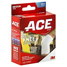 ACE Knee Support, Knitted, Medium, Mild Support, 1 support