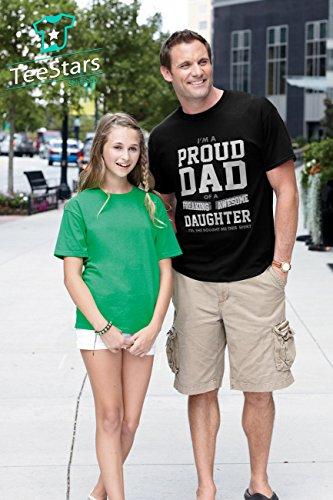 Proud Dad Of A Freaking Awesome Daughter Funny Christmas Gift for Dads T-Shirt X-Large Black