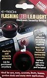 E-Tech LED-Blinklicht zur Abwehr von Dieben, sieht aus wie Alarmanlage, für Auto, Van, Boot etc., Rot
