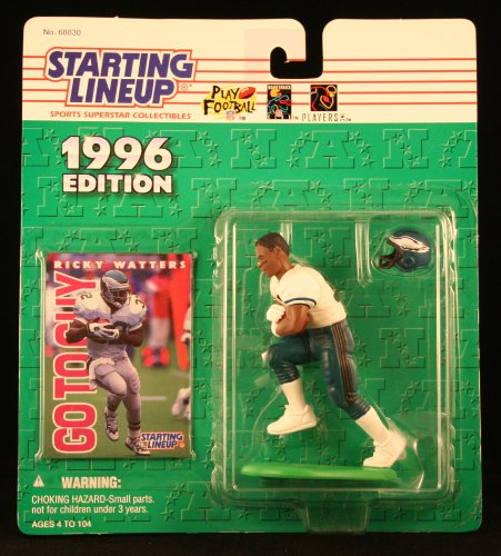 RICKY WATTERS / PHILADELPHIA EAGLES 1996 NFL Starting Lineup Action Figure & Exclusive NFL Collector Trading Card