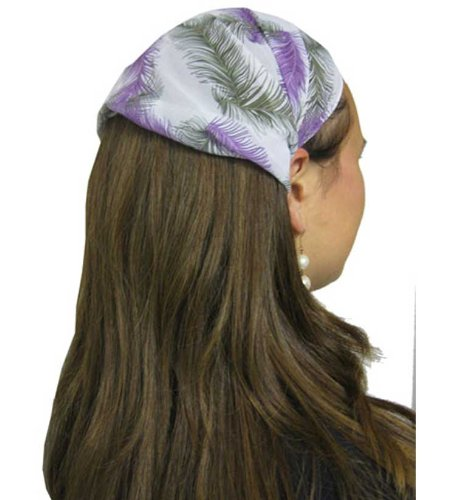 Hunter and Grape Leafy Wilderness Sheer Wide Hair Band