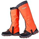 AMYIPO Unisex Snow Leg Gaiter Hiking Boots Gaiters Waterproof Gaiters (Orange, M)