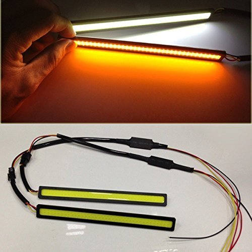 AODE® 2pcs COB 12v Car LED Lights DRL Driving