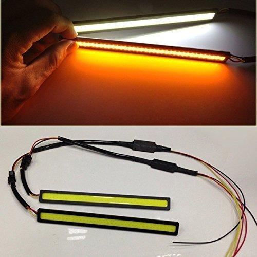 AODE® 2pcs COB 12v Car LED Lights DRL Driving