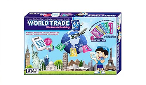 World Trade, Property Trading Game - Electronic Banking With Swipe Machine, Great Family Fun Game Toy
